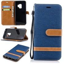 Jeans Bookstijl Hoesje Samsung Galaxy S9 - Blauw