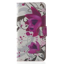 Bookstyle Hoesje Samsung Galaxy S9 - Paarse Bloem