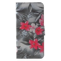 Bookstyle Hoesje Samsung Galaxy S9 - Pink Flowers