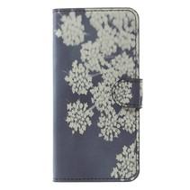 Bookstyle Hoesje Samsung Galaxy S9 - Witte Bloemen