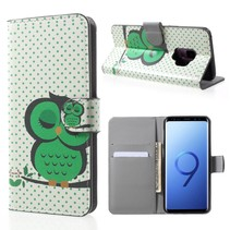 Bookstyle Hoesje Samsung Galaxy S9 - Slapende Uil