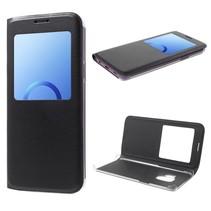 Window View Booktype Hoesje Samsung Galaxy S9 - Zwart