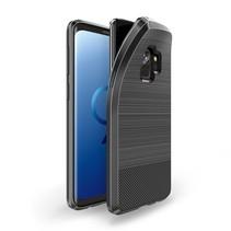 S Series Carbon Structuur TPU Hoesje Samsung Galaxy S9 - Zwart