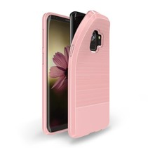 S Series Carbon Structuur TPU Hoesje Samsung Galaxy S9 - Roze