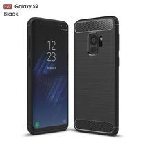 Brushed TPU Gel Hoesje Samsung Galaxy S9 - Zwart