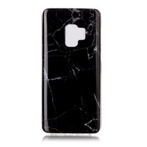 Marmer TPU Hoesje Samsung Galaxy S9 - Zwart