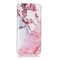 Marmer TPU Hoesje Samsung Galaxy S9 - Roze