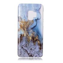 Marmer TPU Hoesje Samsung Galaxy S9 - Blauw