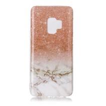 Marmer TPU Hoesje Samsung Galaxy S9 - Oranje / Wit