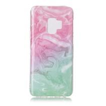 Marmer TPU Hoesje Samsung Galaxy S9 - Roze / Groen
