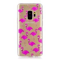 Transparant TPU Hoesje Samsung Galaxy S9 - Flamingo's