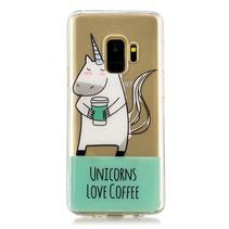 Transparant TPU Hoesje Samsung Galaxy S9 - Unicorns Love Coffee