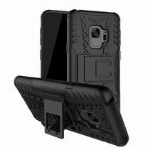 Hybrid met Kickstand Hoesje Samsung Galaxy S9 - Zwart