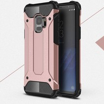 Armor Guard Hybrid Hoesje Samsung Galaxy S9 - Rose Goud