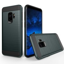 Brushed Hybrid Backcover Hoesje Samsung Galaxy S9 - Blauw