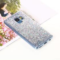 Glitter Backcover Hoesje Samsung Galaxy S9 - Zilver