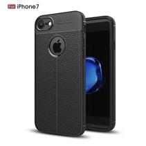 Litchee TPU Hoesje iPhone 7 / 8 - Zwart