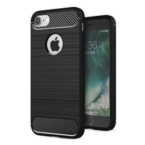Armor Brushed TPU Backcover Hoesje iPhone 7 / 8 - Zwart