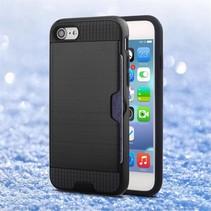 Brushed Hardcase + TPU Hybrid Hoesje iPhone 7 / 8 - Zwart