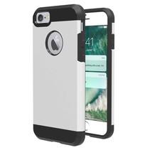 Slim Guard Hardcase + TPU Hoesje iPhone 7 / 8 - Zilver