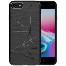 Magic TPU Qi Ondersteunend Hoesje iPhone 8 - Zwart