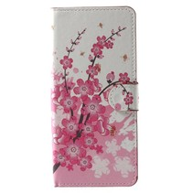 Samsung Galaxy Note 8 Booktype Hoesje - Plum Flowers