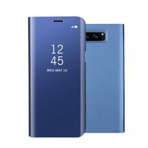 Glanzend Spiegel Booktype Hoesje Samsung Galaxy Note 8 - Blauw