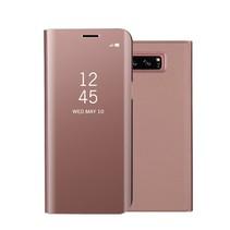 Glanzend Spiegel Booktype Hoesje Samsung Galaxy Note 8 - Rosé Goud