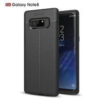 Litchee TPU Hoesje Samsung Galaxy Note 8 - Zwart