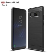 Samsung Galaxy Note 8 Carbon Brushed TPU Hoesje - Zwart