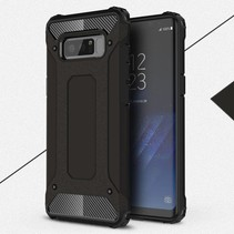 Armor Guard Hybrid Hoesje Samsung Galaxy Note 8 - Zwart