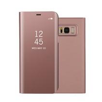 Spiegel Booktype Hoesje Samsung Galaxy S8 Plus - Rosé Goud