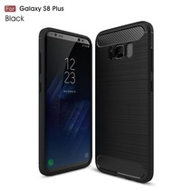 Carbon Brushed TPU Hoesje Samsung Galaxy S8 Plus - Zwart