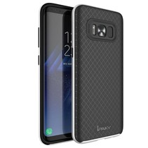 2-in-1 Hybrid Hoesje Samsung Galaxy S8 Plus - Zilver