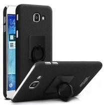 Mat Hardcase Hoesje Samsung Galaxy A3 (2017) - Zwart