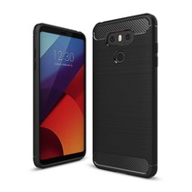 Carbon Brushed TPU Hoesje LG G6 - Zwart