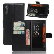 Litchee Wallet Booktype Hoesje Sony Xperia XZ / XZs - Zwart