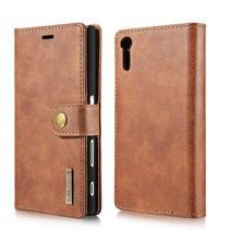 Lederen Wallet Hoesje Sony Xperia XZ / XZs - Bruin