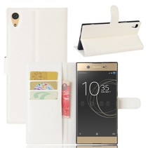 Litchee Booktype Hoesje Sony Xperia XA1 Ultra - Wit