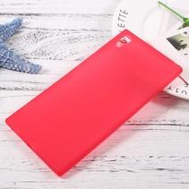 Mat TPU Hoesje Sony Xperia XA1 Ultra - Rood