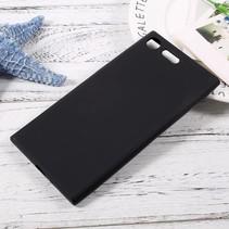 Mat TPU Hoesje Sony Xperia XZ Premium - Zwart