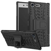 Hybrid Hoesje met Kickstand Sony Xperia XZ Premium - Zwart