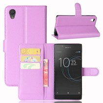Litchee Booktype Hoesje Sony Xperia L1 - Paars