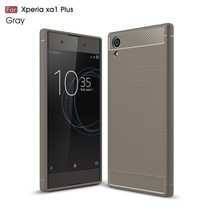 Carbon Brushed TPU Hoesje Sony Xperia XA1 Plus - Grijs