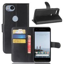 Litchee Booktype Hoesje Google Pixel 2 XL - Zwart