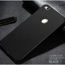 Mat TPU Hoesje Huawei P8 Lite (2017) / Honor 8 Lite - Zwart