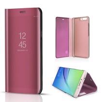 Glanzend Window Venster Hoesje Huawei P10 - Rosé Goud