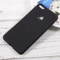 Mat TPU Hoesje Huawei P10 Lite - Zwart
