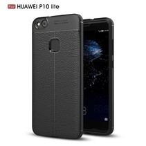 Litchee TPU Hoesje Huawei P10 Lite - Zwart
