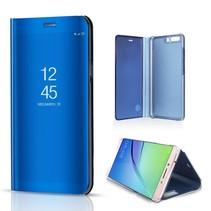 Spiegel Hardcase Window Venster Hoesje Huawei P10 Plus - Blauw